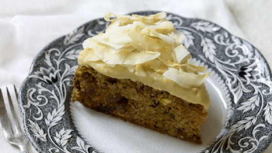 Carrot, cardamom and coconut cake
