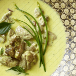 Chicken in creamy coconut and basil sauce